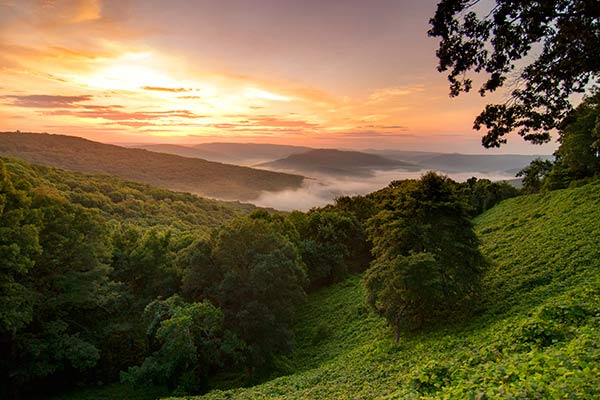 Ozark Mountains in Arkansas