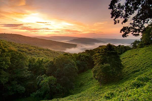 Ozark Mountains in Arkansas